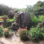 The garden of Auberge de la Selune