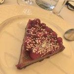tarte aux framboises (pâte sablée aux pistaches)