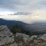 Looking toward Albuquerque through a thunderstorm from the top