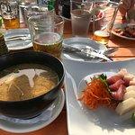 Miso soup & sashimi