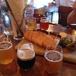 trio of beer and cheese board
