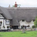 The Red Lion restaurant and dog-friendly pub across the road from stone circles