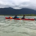 Kayaking on Mendenhall Lake in Juneau Alaska