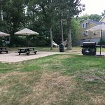 Free Gas grills (2) and picnic tables