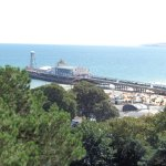 View from Balcony toward Bournemouth Pier.