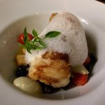 Delicious Bacalao with a delicate broth and slightly sweet foam