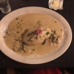 Veal Loaf with Mushroom sauce and Prosciutto