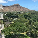 Our room had these breathtaking views of the beach and Diamond Head volcanic mountain!