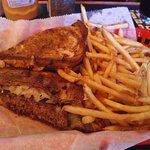 The patty melt is one of several burger options.