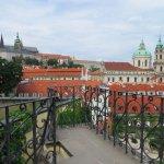 Vrtba garden view of Prague Castle from the upper level