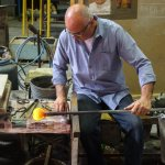 Free glass blowing demonstration offered through hotel