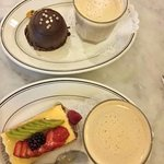 Fabulous desserts and coffees.