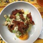 My wedge salad with crumbled blue cheese and sear ahi tuna steak
