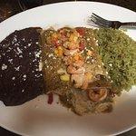 Yummy shrimp enchiladas