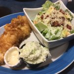 1 Piece Fish with Caesar Salad