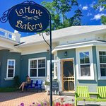 Front of LaHave Bakery in Pretty Mahone Bay