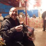 having coffee at 3:00 am near the top of mount sinai