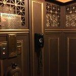 Original hotel elevator.