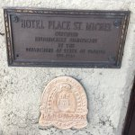 Hotel Place St. Michele historic marker