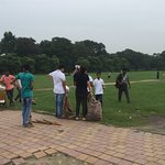 Heartening to see youngsters clearing the garbage.