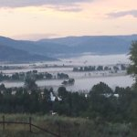 Early morning fog from the Yampa River in the valley