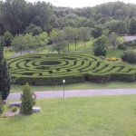 The maze at Domaine de Maizerets