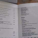 Compare these prices with the Greek menu.