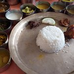 Non veg Thali with Chicken, Duck and Pigeon!