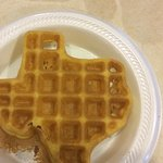 Texas waffles at the continental breakfast