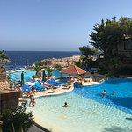 Belle piscine (chauffée)donnant sur la mer