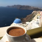 Traditional greek coffee with THE absolute view to look at!