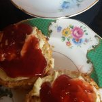scrumpious scones on a beloved plate - lovely coincidence!