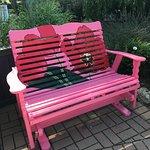 pink bench