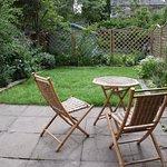 Private garden in the Servants Quarters room