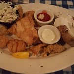 The fried seafood platter.