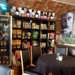 Deli area at Piccolo - artisan pastas, sauces, craft beers, fine wines, olive oil, balsamic and