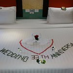 we went out to lunch and when we returned to our room this is what we found!