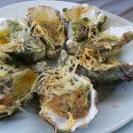 Les huîtres gratinées