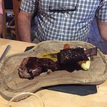 Braised Rib of Magheramourne Beef and 6oz Sirloin.