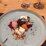 Beetroot and Fivemiletown Goat's Cheese.