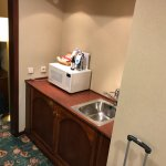 Kitchnett and microwave in the suite