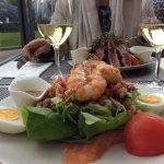 Both fish salades are tasty