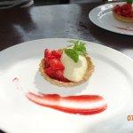 Fruit tart for dessert