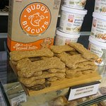 A sideline product at Royal Majesty Espresso....Buddy Biscuits for your dog!