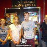 """Notre équipe sortant gagnant de l'escape game mission : """"Braquage au casino"""""""