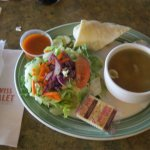 Sandwich, salad and soup....an excellent lunch combination at Swiss Chalet.