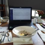 """My """"office"""" in the restaurant... (nice office) !"""