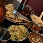 Some of our food (Chole bottom right was great)