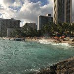 Waikiki beach - two short blocks away.