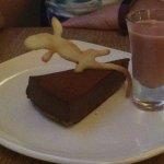 Chocolate Tart with White Chocolate and Raspberry Fondue